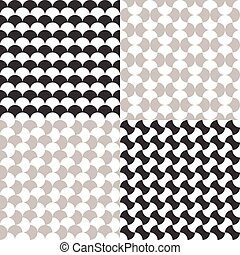 Black and white seamless pattern background
