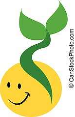 smiling yellow seed