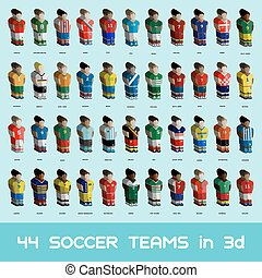 Soccer Teams Icons Set