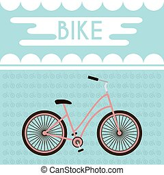 Bicycle Promotional Banner - Pink Bicycle against the...