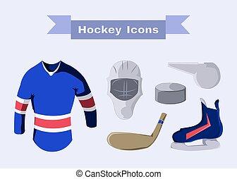 Hockey Sportswear Objects - Hockey Sportswear Illustration....