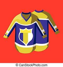 Hockey Sportswear Pullover - Hockey Pullover Illustration on...