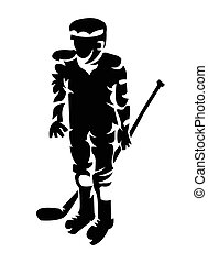 Hockey Player Mascot Silhouette