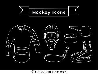 Hockey Sportswear Objects Line art - Hockey Sportswear...