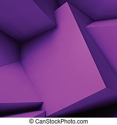 Abstract geometric background with overlapping cubes -...