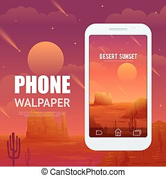 Desert Concept For Phone Walpaper - Advertising poster of...