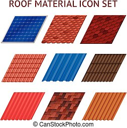 House Roof Tile Images Set - Images set of different colors...