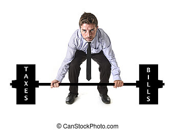 corporate composite of young attractive businessman power...