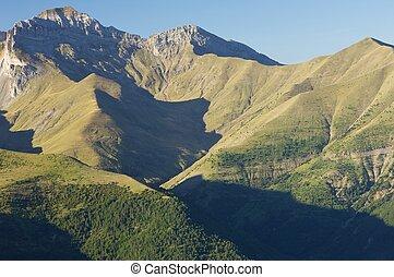 Pyrenees - Tendenera Mountains in Pyrenees, Tena Valley,...