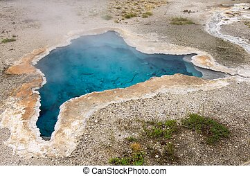 Yellowstone National Park - Natural pool in Yellowstone...