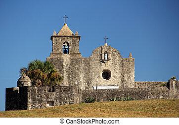 Old Spanish Church - Presido La Bahia, Texas Revolution...