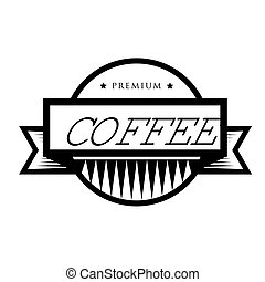 Vintage vector coffee logo or stamp