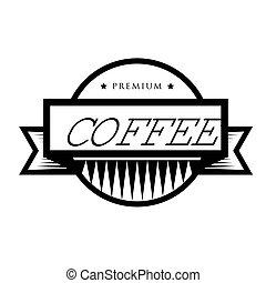 Vintage vector coffee logo or stamp