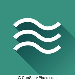 flood design icon - Illustration of flood design icon with...