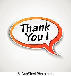 thank you speech bubble - Illustration of thank you speech...