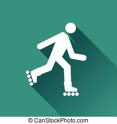 roller skates icon - Illustration of roller skates icon with...
