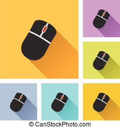 computer mouse set icons