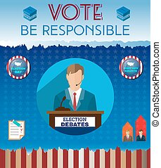 USA Presidential Election Be Responsible Banner - Election...