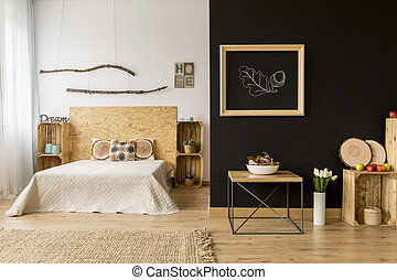 Fall room decor idea - Modern style home interior with...