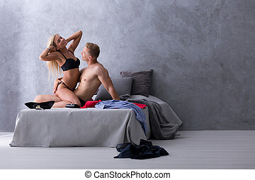 When romance goes so fast - Young man and woman having an...