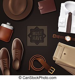 Men Wear Must Have Concept - Men wear must have concept with...