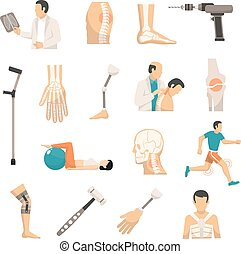 Orthopedics Color Icons Set - Orthopedics and prosthetics...