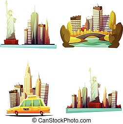 New York Downtown 2x2 Design Compositions - New york...