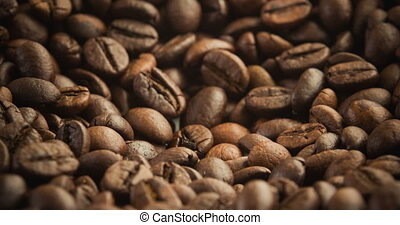 Roasting Coffee Beans Close up