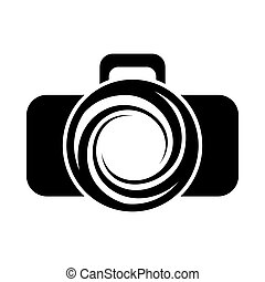 Photo camera icon, simple style - icon in simple style on a...
