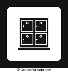 Cells for storage in the supermarket icon - icon in simple...