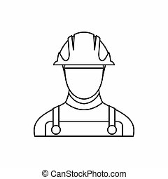 Builder icon in outline style