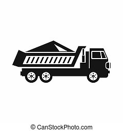 Dump track icon, simple style - icon in simple style on a...