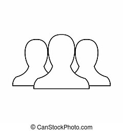 People icon in outline style - icon in outline style on a...