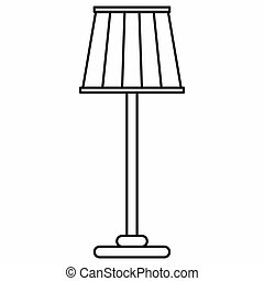 Floor lamp icon in outline style - icon in outline style on...