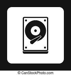 CD rom icon, simple style - CD rom icon in simple style...