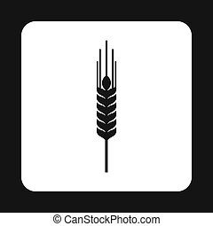 Spikelet of wheat icon, simple style - Spikelet of wheat...