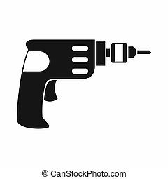Hand drill icon, simple style - icon in simple style on a...