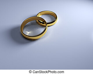 rings - An image of two classic golden wedding rings