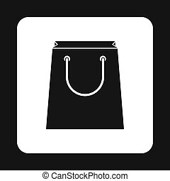 Paper bag icon in simple style - icon in simple style on a...