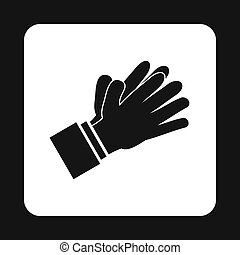 Clapping applauding hands icon, simple style - icon in...