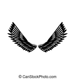 Pair of eagle wings icon, simple style - Pair of eagle wings...