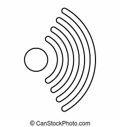 Wireless network symbol icon, outline style - icon in...