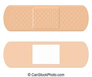 Adhesive Bandage Reverse Surface - Adhesive bandage - both...