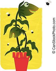 Carnivorous Plant - Clip-art of a carnivorous plant and...