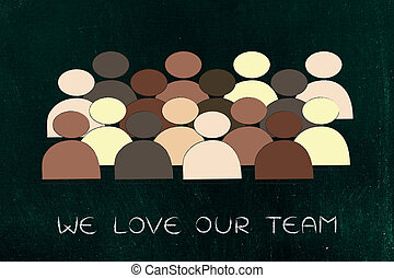 diversity in the workplace: multi ethnic team illustration -...