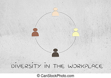 diversity in the workplace: multi ethnic team illustration...