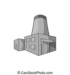 Brewery icon, black monochrome style - Brewery icon in black...