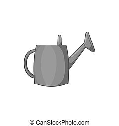 Watering can for garden icon, monochrome style - Watering...