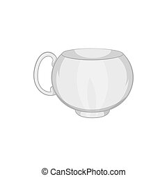 Cup icon in black monochrome style - icon in black...