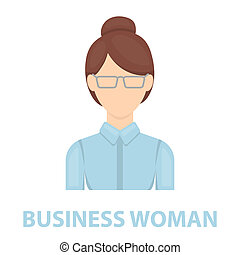 Business woman icon cartoon Single avatar,peaople icon from...